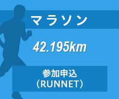 マラソン 42.195km 参加申込(RUNNET)