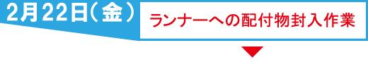 2月22日(金) ランナーへの配付物封入作業